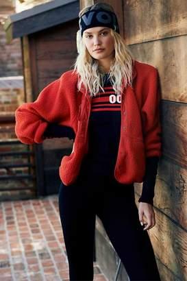 Free People Red Fleece Jacket