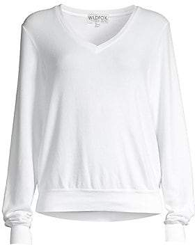 Wildfox Couture Women's Oversized V-Neck Pullover