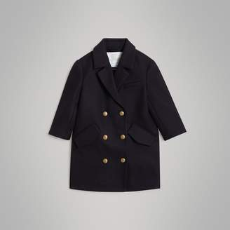 Burberry Childrens Crested Button Wool Pea Coat