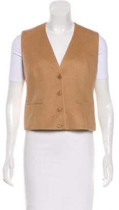 Akris Camel Cropped Vest