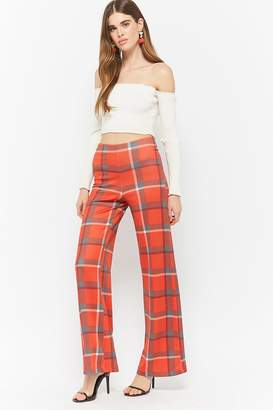 Forever 21 Plaid High-Rise Pants