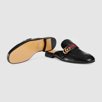 Gucci Princetown leather slipper with DoubleG