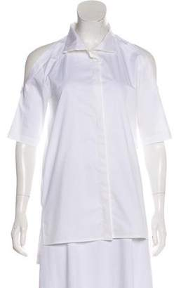 DKNY Cold Shoulder Button-Up Top
