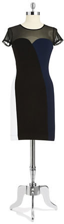 French Connection Illusion Colorblock Dress