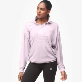 adidas Velvet Half-Zip Sweater - Women's