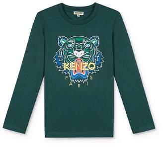 Kenzo Boys' Long Sleeve Tiger Tee - Little Kid