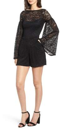 Sentimental NY Bell Sleeve Lace Romper