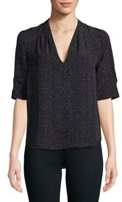 Joie Ance Printed Short-Sleeve Blouse