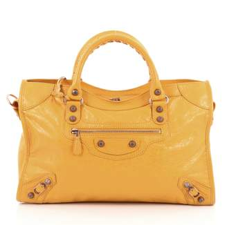 Balenciaga Yellow Leather Handbag