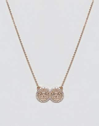 Missguided double coin necklace in gold