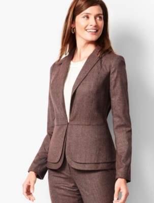 Talbots Italian Luxe Tweed Peplum Blazer