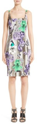 Women's Versace Collection Print Scoop Neck Dress $895 thestylecure.com