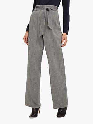 Phase Eight Edwina Wide Leg Trousers, Grey