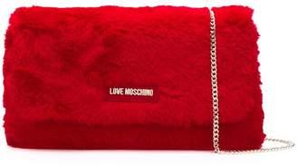 Love Moschino fuzzy shoulder bag