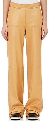 Derek Lam Women's Leather Wide-Leg Trousers $2,950 thestylecure.com