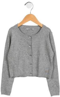 Mayoral Girls' Button-Up Knit Cardigan