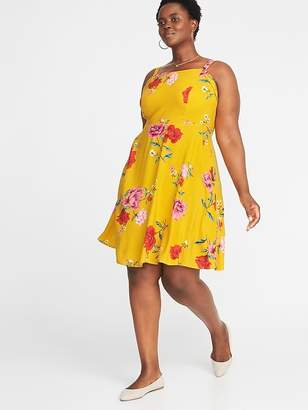 Old Navy Floral-Print Fit & Flare Plus-Size Cami Dress