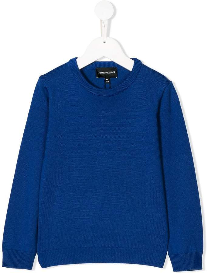 Emporio Armani Kids 6Z4MYA1M2AZ0952 BLUE Wool or fine animal hair->Virgin Wool