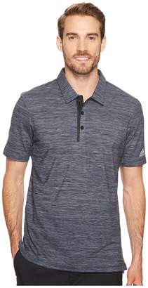 adidas Gradient Heather Jersey Polo Men's Short Sleeve Pullover