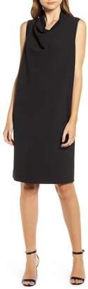 Anne Klein Cowl Neck Crepe Sheath Dress