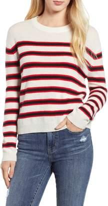 Velvet by Graham & Spencer Stripe Cashmere Sweater