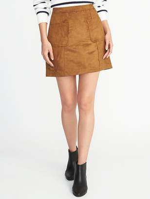 Old Navy Faux-Suede Utility A-Line Mini for Women