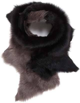 Karl Donoghue 'Flash' colourblock lambskin shearling scarf