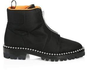 Alexander Wang Women's Cooper Zip-Front Ankle Boots - Black - Size 35 (5)