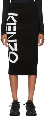 Kenzo Black Sport Tube Mid-Length Skirt