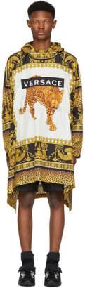 Versace Multicolor Animalier Anorak Coat
