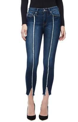 Ga Sale Good Legs Crop Raw Seam Jeans - Blue135