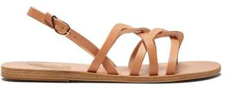 Ancient Greek Sandals Schinousa Entwining Leather Slingback Sandals - Womens - Tan Gold