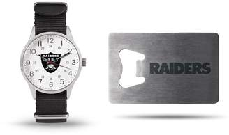 Unbranded Sparo Oakland Raiders Watch & Bottle Opener Gift Set