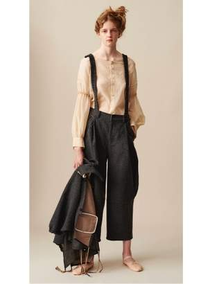 Renli Su ARTISAN CURVED LEG TROUSERS with DETACHABLE SUSPENDERS