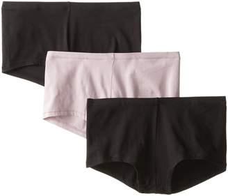 Hanes Women's 3 Pack Comfortsoft Boyshort Panty, BLACK/NUDE