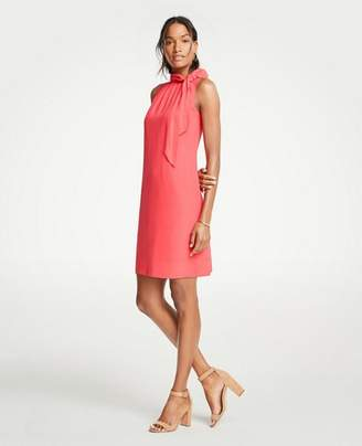 Ann Taylor Petite Tie Neck Sheath Dress