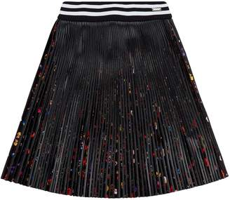 Givenchy Floral Pleated Skirt