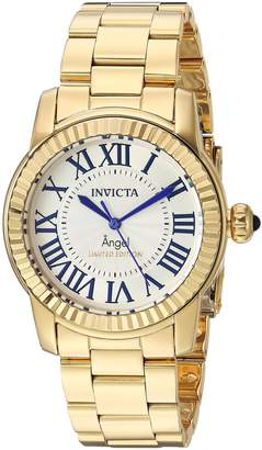 Invicta Women's Quartz Stainless Steel Casual Watch, Color:Gold-Toned (Model: 24620)