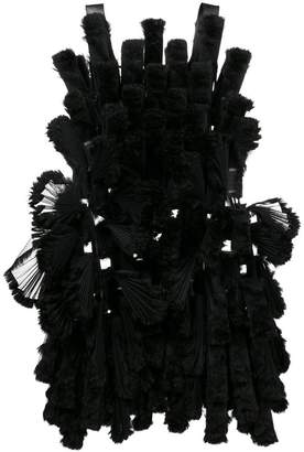 Comme des Garcons three-dimensional pleated mesh panel dress