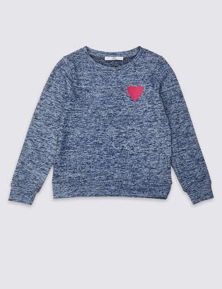 Marks and Spencer Heart Sweatshirt (3-16 Years)
