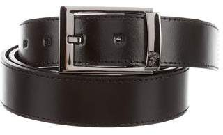 Versace Gunmetal Buckle Leather Belt w/ Tags