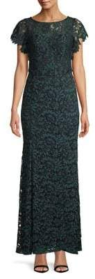 Decode 1.8 Belted Lace Column Gown