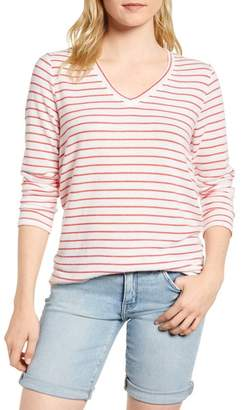 Gibson x Living in Yellow Steph Cozy Stripe Top (Regular & Petite) (Nordstrom Exclusive)