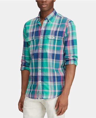 34b08313b Polo Ralph Lauren Green Plaid Men s Shirts - ShopStyle