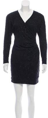 Carmen Marc Valvo Embellished Mini Dress