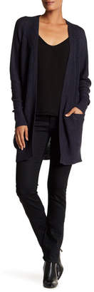 Contemporary Designer Open Cardigan with Faux Suede Elbow Patches $115 thestylecure.com