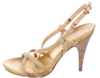 Miu Miu Slingback Rope Sandals