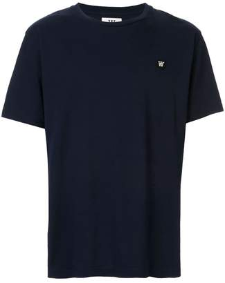 Wood Wood navy logo T-shirt