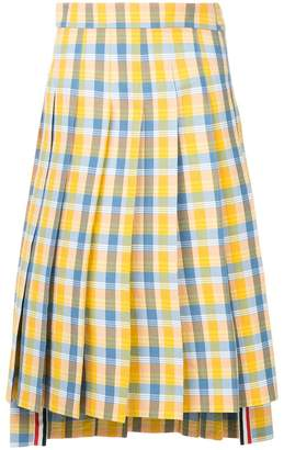 Thom Browne pleated check skirt