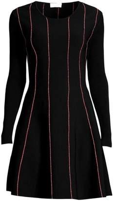 Escada Sport Doja Striped Knit Flare Dress